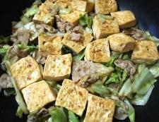 豆腐と豚こまのオイスターソース炒め 調理⑥