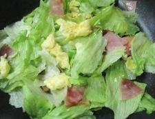 ベーコンレタス卵のさっと炒め 調理④