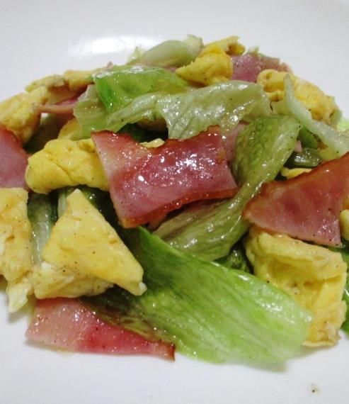 ベーコンレタス卵のさっと炒め 拡大