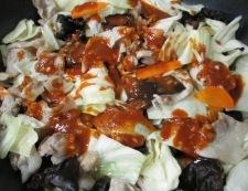 キクラゲの胡麻コチュジャン炒め 調理⑤