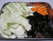 キクラゲの胡麻コチュジャン炒め 調理①