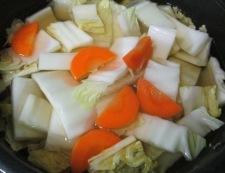 白菜野菜天 調理①