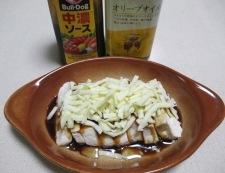 豆腐のソースチーズ焼き 調理②