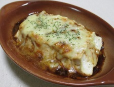 豆腐のソースチーズ焼き 調理④