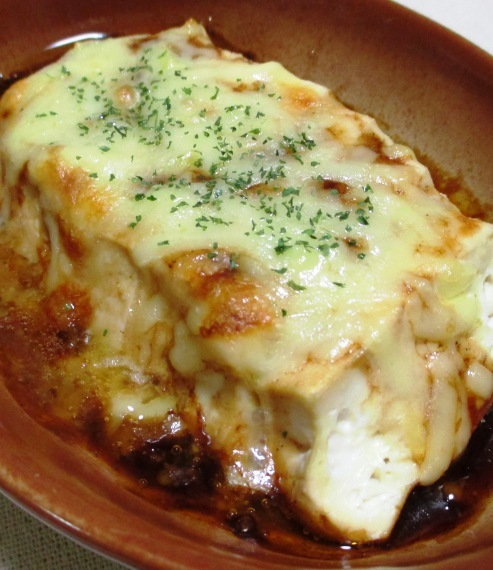 豆腐のソースチーズ焼き B