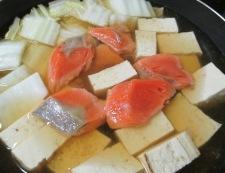 甘塩鮭と白菜の煮物 調理④