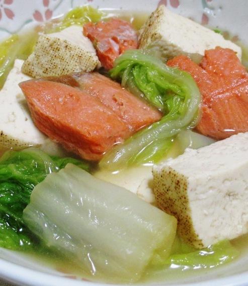 甘塩鮭と白菜の煮物 大
