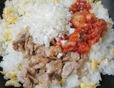 焼肉のタレ炒飯 調理⑤