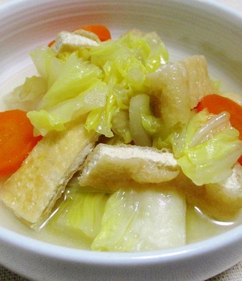 白菜とお揚げの煮物 B