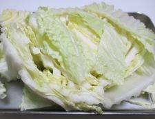 白菜とお揚げの煮物 材料①