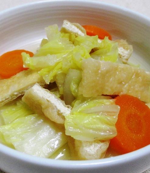 白菜とお揚げの煮物 大