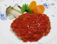 トマトソース ハンバーグ 調理②