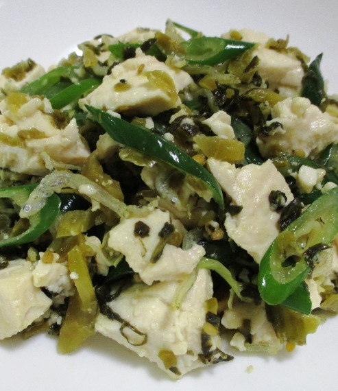 高菜とおじゃこ豆腐和え B