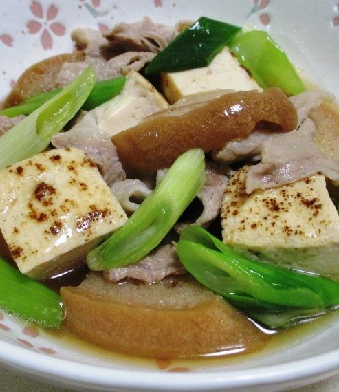 車麩と焼き豆腐の煮物 大