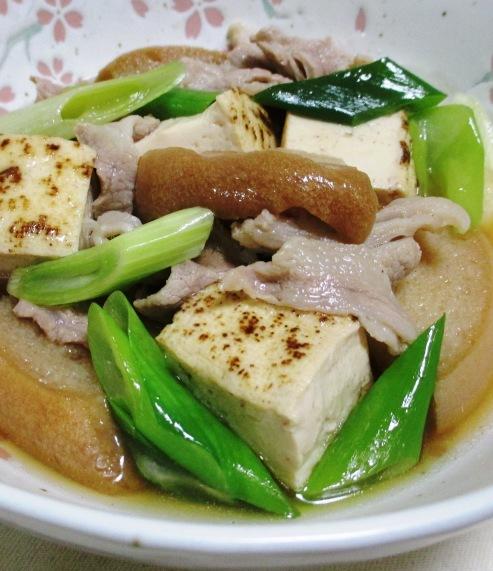 車麩と焼き豆腐の煮物 拡大