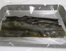 鯛の昆布締め 調理①