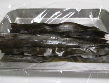 鯛の昆布締め 調理③