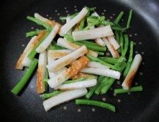 春菊の胡麻炒め 調理④