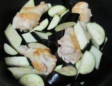 ナスと鶏手羽の煮物 調理④