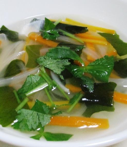 野菜わかめスープ B