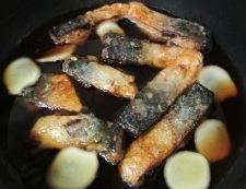 サバの唐揚げ甘辛煮 調理⑤