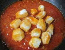 里芋のミートソースチーズ焼き 調理②
