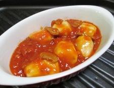 里芋のミートソースチーズ焼き 調理③