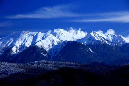 岐阜県側から望む霊峰御岳