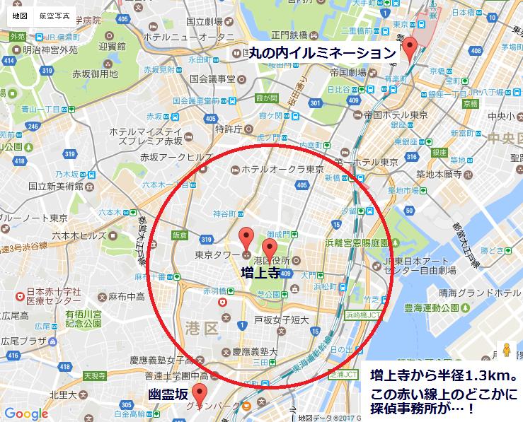 増上寺と探偵事務所