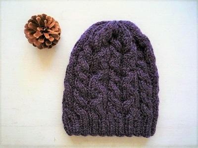 パープル帽子