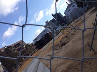 河川敷拡張工事開始