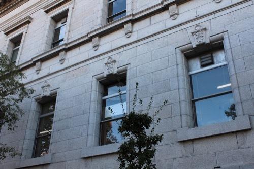 0199:府立中之島図書館 増築部壁面のファサード①