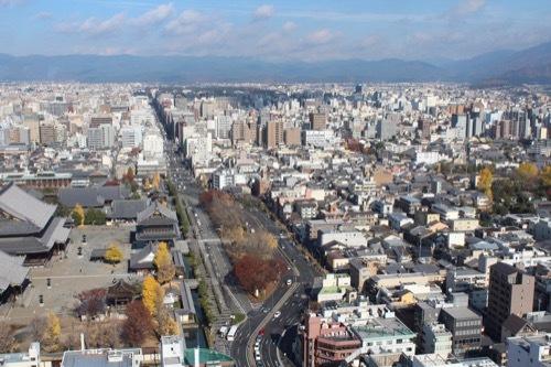 0212:京都タワー 展望から京都市街地を望む