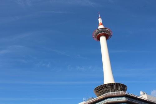 0212:京都タワー タワーを見上げる