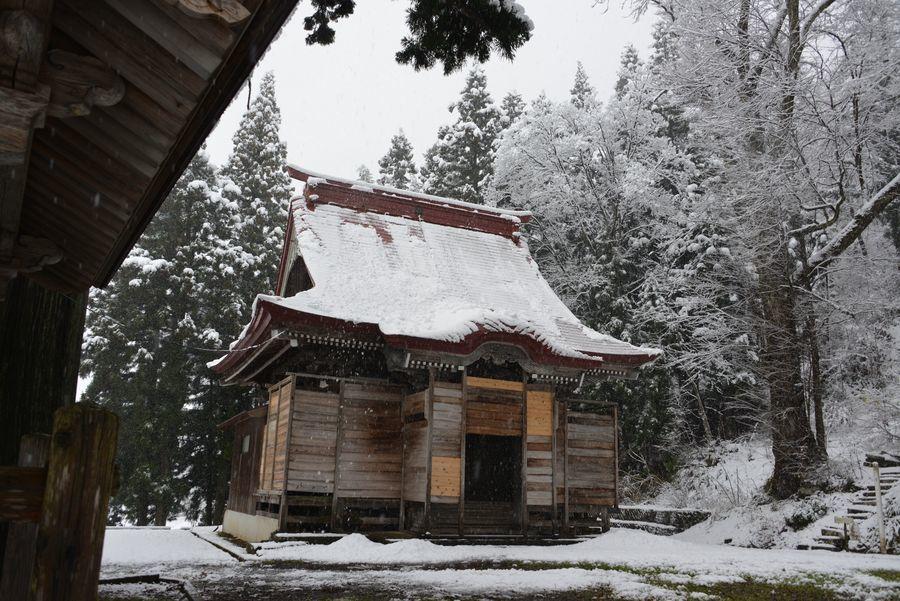 初雪 2つの神社-5