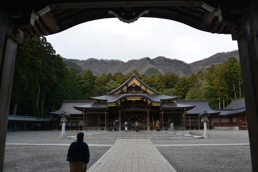 師走の神社-1