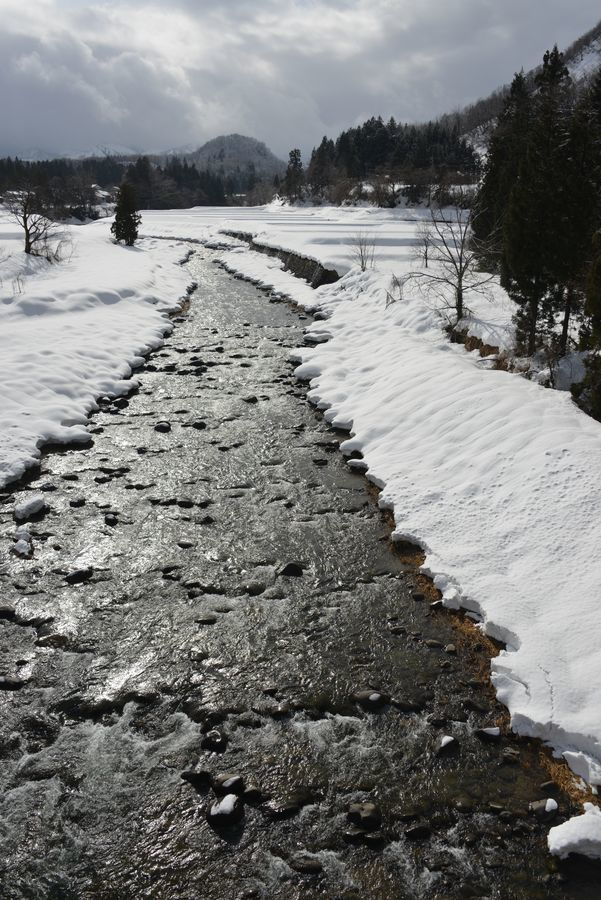雪の守門川-1