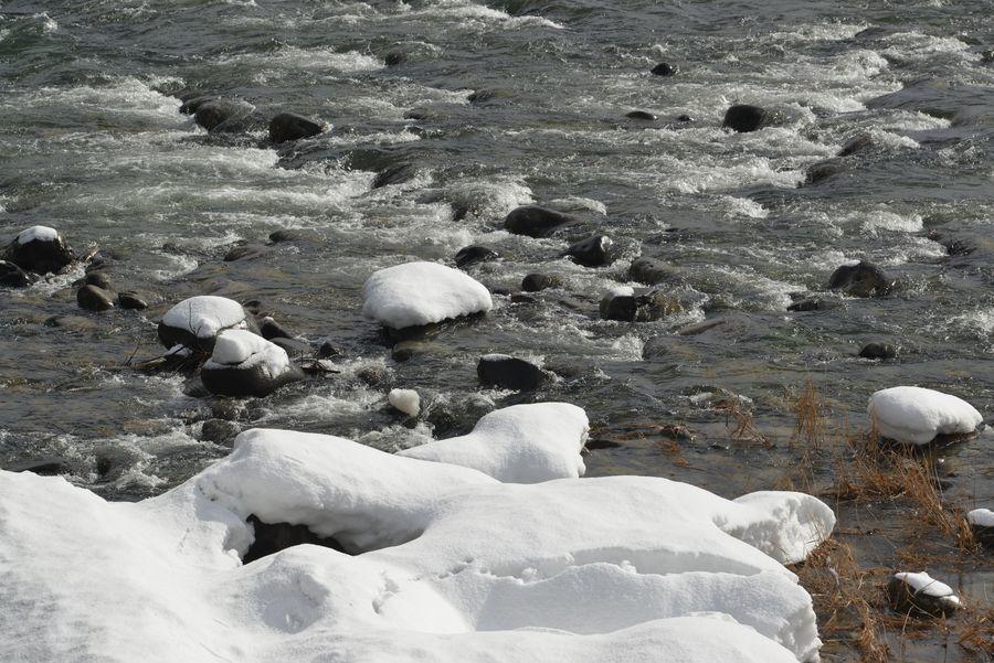 雪の守門川-4