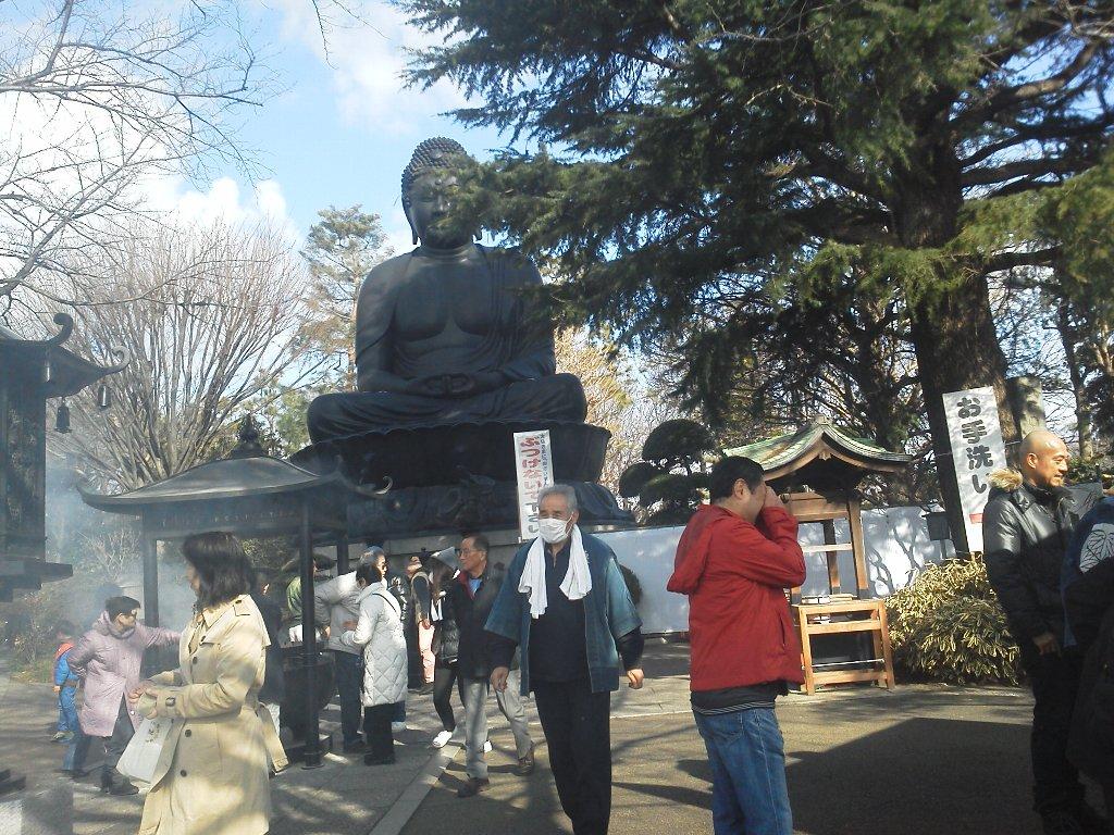 F1000031平成29年初詣乗蓮寺(東京大仏)