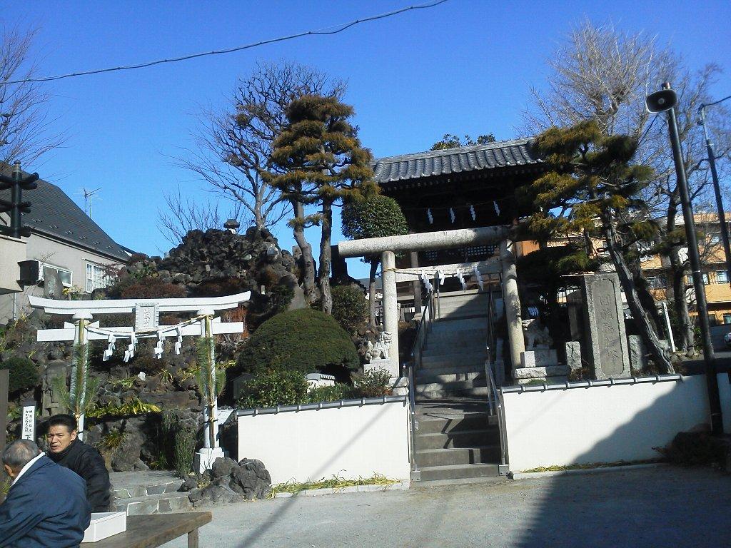 F1000052平成29年初詣下練馬浅間神社
