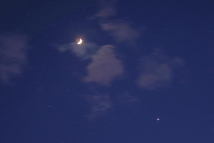 月と火星、金星