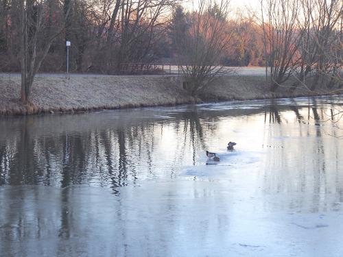 川が凍るくらい