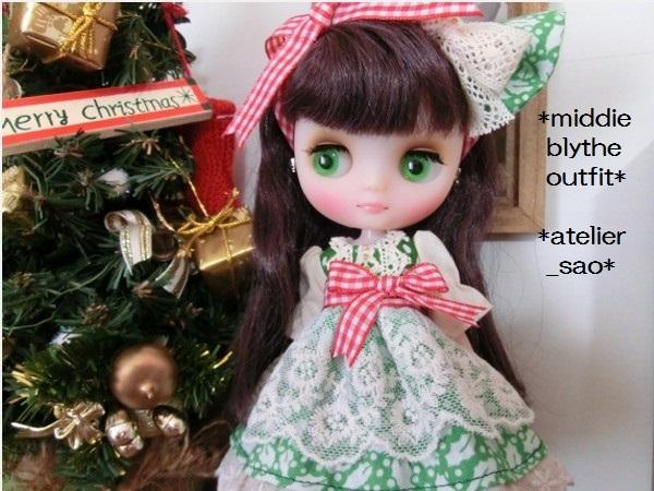 ミディブライス◆クリスマス柊グリーン1