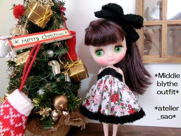 ミディブライス◆クリスマスの花◇白ドレス 2