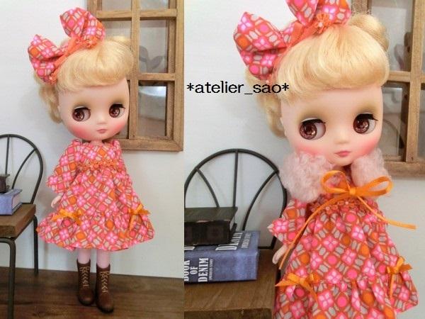 ミディブライス◆ピンク×オレンジ ドレス1