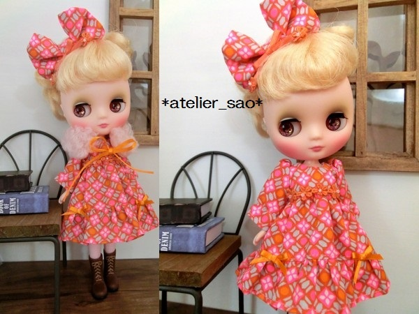 ミディブライス◆ピンク×オレンジ ドレス2