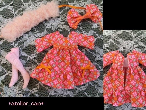 ミディブライス◆ピンク×オレンジ ドレス3