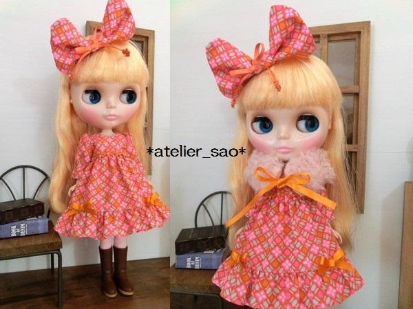 ネオブライス◆ピンク×オレンジ ドレス1