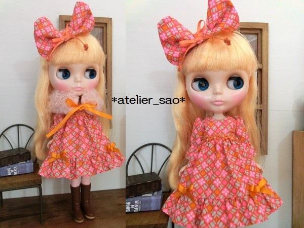 ネオブライス◆ピンク×オレンジ ドレス2