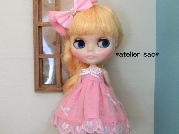 ネオブライス◆ハートレースのピンクドレス1